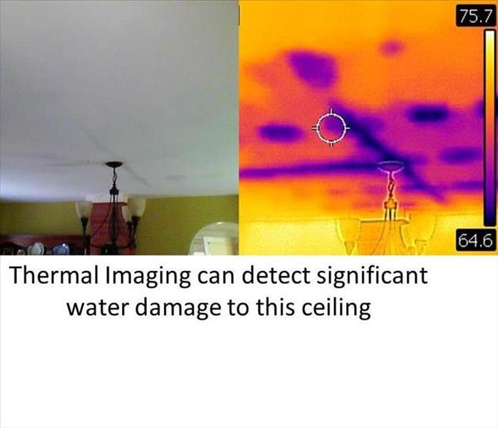 Water Damage Thermal Imaging used to Detect Water Damage